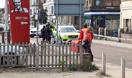 Armed police swarm Lowestoft as locals panic with 'gunman on loose'