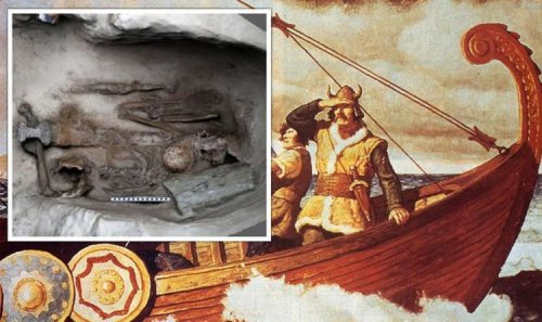 Archaeologists baffled by intact Viking boat burial found under Scottish property
