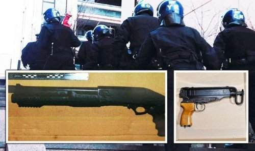London gun crackdown as police seize stash of firearms and knives in raids across capital