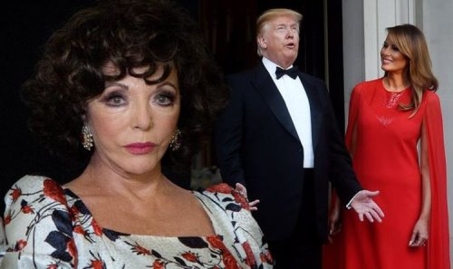 'Rather rude!' Joan Collins hits back at Trump's claim he 'didn't want to be her lover'