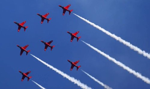Red Arrows flypast route - When and where you can see Red Arrows today