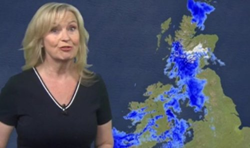 BBC Weather: Carol Kirkwood forecasts heavy rain to cause 'flooding and disruption' for UK