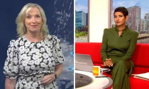 BBC Breakfast's Naga Munchetty mocks Carol Kirkwood in weather quip 'You tease'