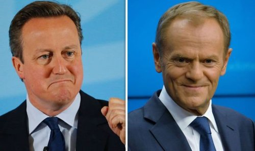 David Cameron's letter to Donald Tusk on UK's EU reform after signing off texts with 'LOL'