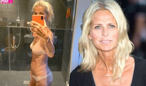 Ulrika Jonsson poses in just flesh underwear after hitting back at nude shoot backlash