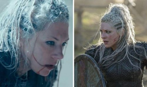 Vikings' Katheryn Winnick issues warning to co-star in unaired behind the scenes clip