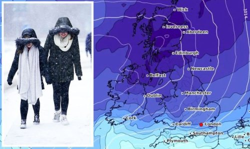 UK cold weather forecast: Get ready! -10C FREEZE to grip Britain – new maps turn icy blue