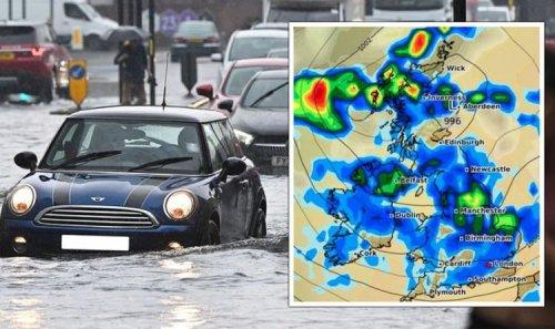UK floods LIVE: Multi-car crashes spark travel chaos – urgent police warning to motorists
