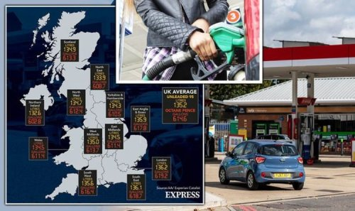 Petrol prices MAPPED: UK days from all-time high - How expensive is petrol in your area?