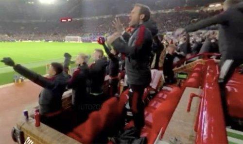 Donny van de Beek's subdued reaction to Cristiano Ronaldo Man Utd goal caught on camera