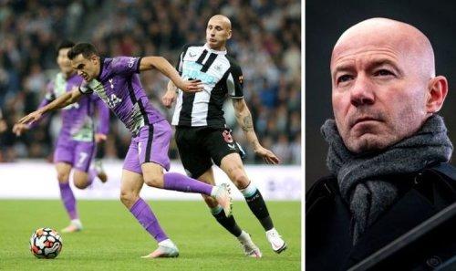 Newcastle hero Alan Shearer furious with Jonjo Shelvey for 'stupid' Tottenham red card