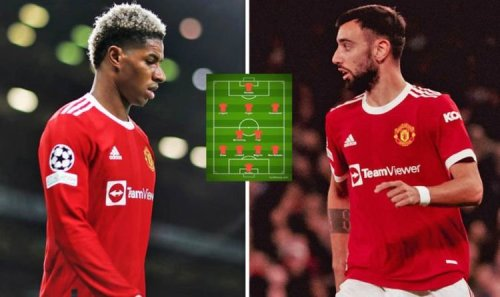 Man Utd's best XI for Liverpool clash if Rashford and Fernandes miss out through injury