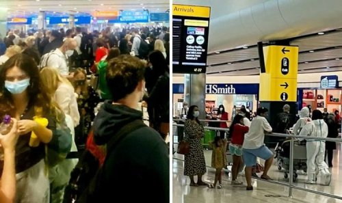 Heathrow chaos: Huge queues as pingdemic leaves 'ONE person on passport control'