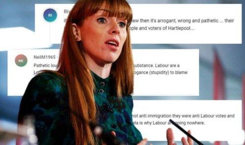 'Pathetic loudmouth!' Angela Rayner hit by ferocious backlash over Hartlepool rant