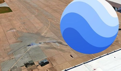 UFO sighting: Claim 'Alien tech' spotted next to US Air Force B-1 Bomber on Google Earth