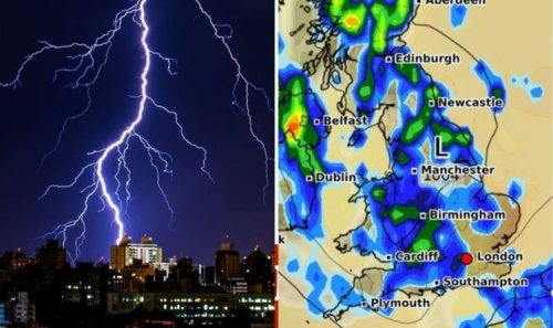Met Office amber warnings: Britain to be hit with downpours and storms for THREE days