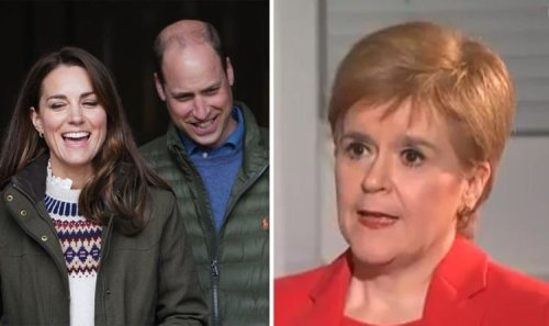 Nicola Sturgeon's squirming response to jibe about being happy to see Kate and William