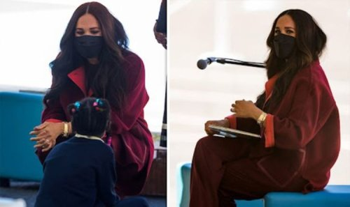 Meghan Markle reads her own book 'The Bench' to children during New York school visit