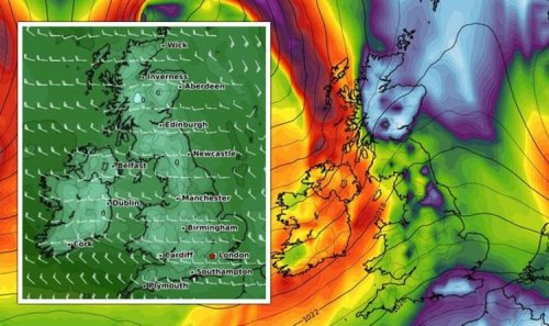 UK cold weather forecast: Huge Atlantic storm to hit UK in 48 hours as temperatures plunge