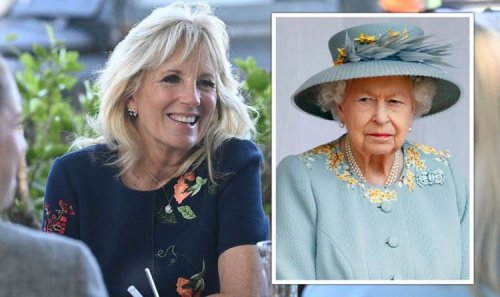 That's awkward! Jill Biden praises Prince Harry hours before private meeting with Queen