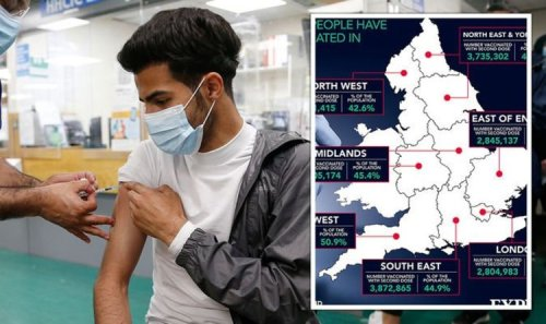 Covid vaccine rollout MAPPED: Staggering speed of jabs across England exposed