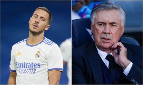 Chelsea receive Eden Hazard transfer boost after Carlo Ancelotti's brutal admission