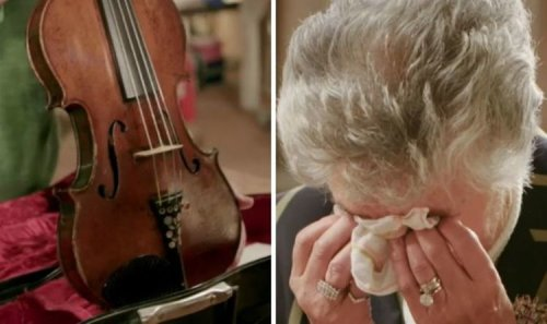 The Repair Shop guest sheds tear as precious violin that survived Auschwitz restored