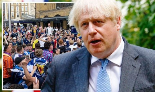 Behave yourselves! Boris Johnson sends stern warning to rampaging Scottish fans in London