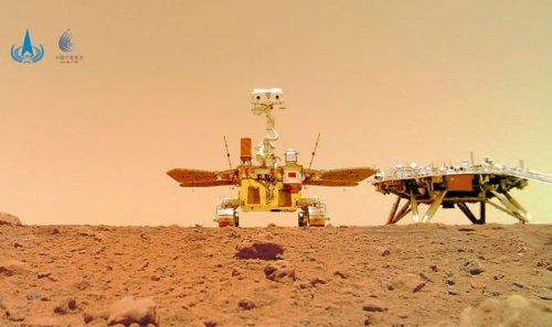 China's Mars rover beams a 'family portrait' back to Earth 'Already doing doughnuts'