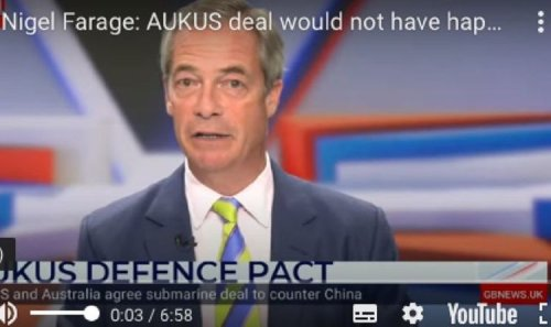 Nigel Farage taunts France over AUKUS deal as he hails coming together of 'Anglosphere'