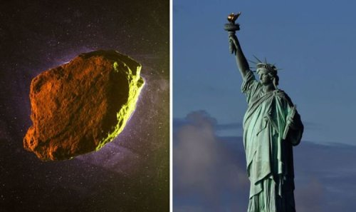 Asteroid twice the size of Statue of Liberty and 'potentially hazardous' to pass Earth
