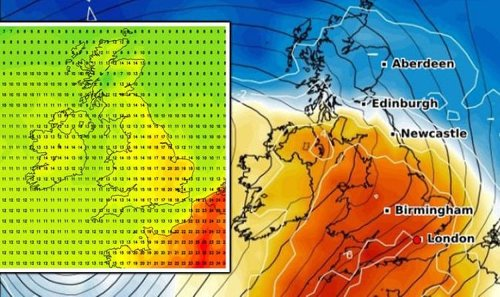 UK weather forecast: Hot 21C European air to bake Britain this weekend - new charts