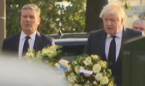 Boris Johnson and Keir Starmer stand united to remember Sir David Amess in Essex