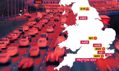MAPPED: The UK roads crippled by huge queues at petrol stations