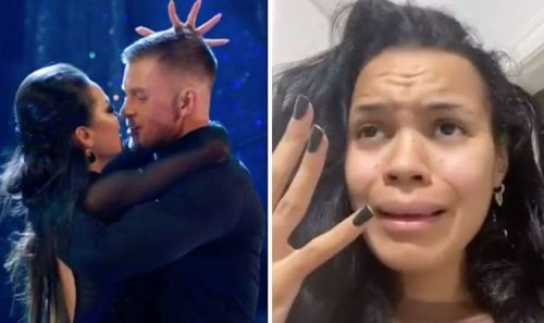 Strictly's Adam Peaty's girlfriend breaks silence on his 'almost kiss' with Katya in video