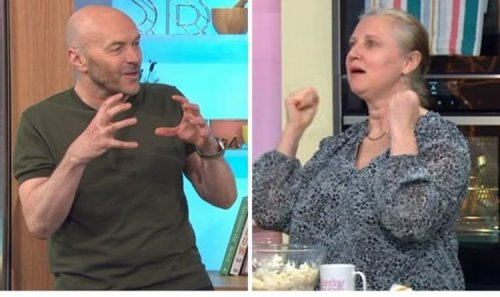 'Shall I just go?' Sunday Brunch guest jokes she will walk off after Simon Rimmer clash