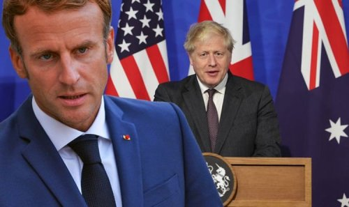 Macron fury at 'dreaded Anglo-Saxons' turning France in to laughing stock with Aukus deal