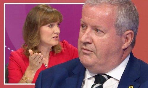 'Don't blow SNP trumpet' BBC's Fiona Bruce puts Blackford on spot on Scotland jab record