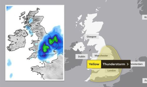 Met Office warnings EXTENDED as 4-DAY lightning barrage to batter Britain - MAPS
