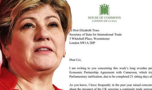 Emily Thornberry demands urgent Brexit trade showdown with Liz Truss – furious letter