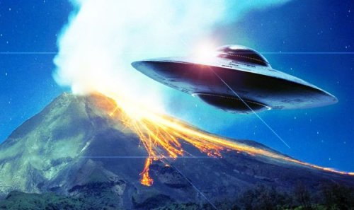 UFO sighting: Green flash over Indonesian volcano came from space - but was it aliens?