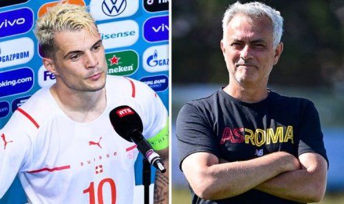 Jose Mourinho leaves comment on Arsenal ace Granit Xhaka's Instagram amid transfer pursuit