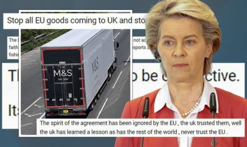 'Stop all EU goods coming to UK!' Britons vow boycott after M&S shipments destroyed