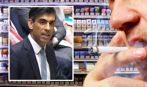 Cigarette HIKE: Rishi Sunak's tobacco tax comes in as smokers feel pinch