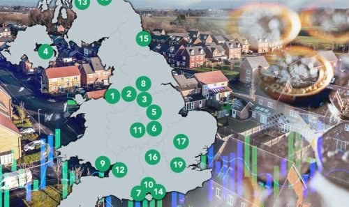 House price surge MAPPED: UK's fastest-growing property hotspots as growth soars to 6.6%
