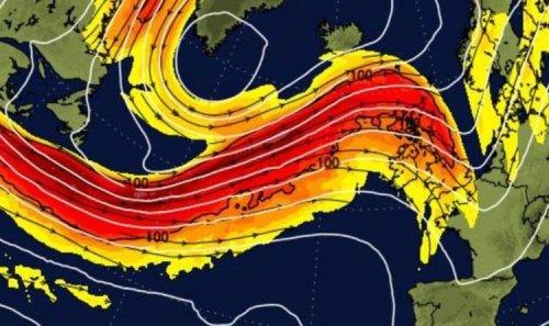 UK storm forecast: Terrifying chart shows brutal Atlantic jetstream raging towards Britain