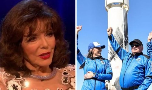 'Take care of this planet' Joan Collins brands William Shatner 'a fool' over space flight