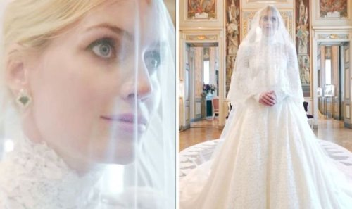 Lady Kitty Spencer, 30, marries Michael Lewis, 62, in Italy– Harry and William not present