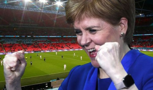 'Embarrassing!' Sturgeon mocked for wildly celebrating Scotland draw against England