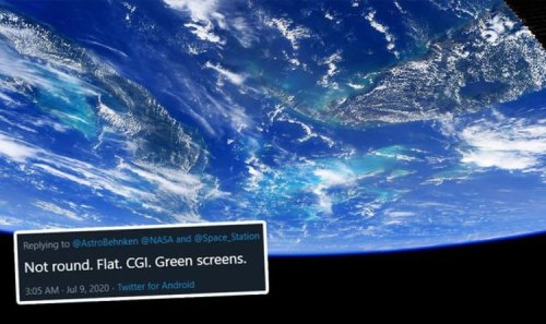 Flat Earth fiasco: Truthers rally as NASA astronaut snaps Earth from space - 'Not round'